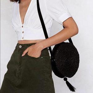 Nasty Gal Woven purse